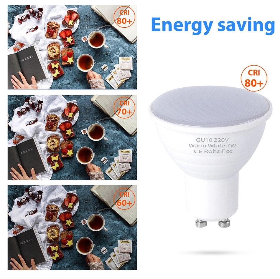 LED Bulb GU10 MR16 Spotlight MR16 DC 220V LED Lampara SMD 2835 5W 7W GU5 3 Chip Beam Angle 30 degree Spotlight For Table Lamp in LED Bulbs Tubes from Lights Lighting