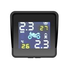 Solar TPMS Tire Pressure Alarm Monitor System Tyre Pressure Monitor Warning External Internal Sensor Tyre Temperature Monitoring цена 2017