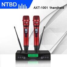 NTBD караоке для сцены, вечерние, для дома, KTV, AXT-100, UHF, беспроводной, двойной микрофон, система, динамический, 2 канала, 2, ручной, кардиоидный