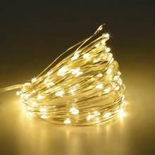 Guirlande féerique en fil de cuivre 2M 5M 10M   Décorations lumineuses de noël pour maison, ornements pour nouvel an, décor de noël pour nouvel an