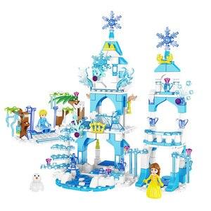 Image 4 - เจ้าหญิงตัวเลขSnow Queenปราสาทน้ำแข็งรุ่นBuilding Blocks Cityเพื่อนอิฐของเล่นเพื่อการศึกษาเด็กDIYของเล่น