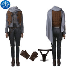 2017 Cosplay Costume Rogue One: A Star Wars Story Jyn Erso Roleplay Full Suit Women Adult Jacket basic coats