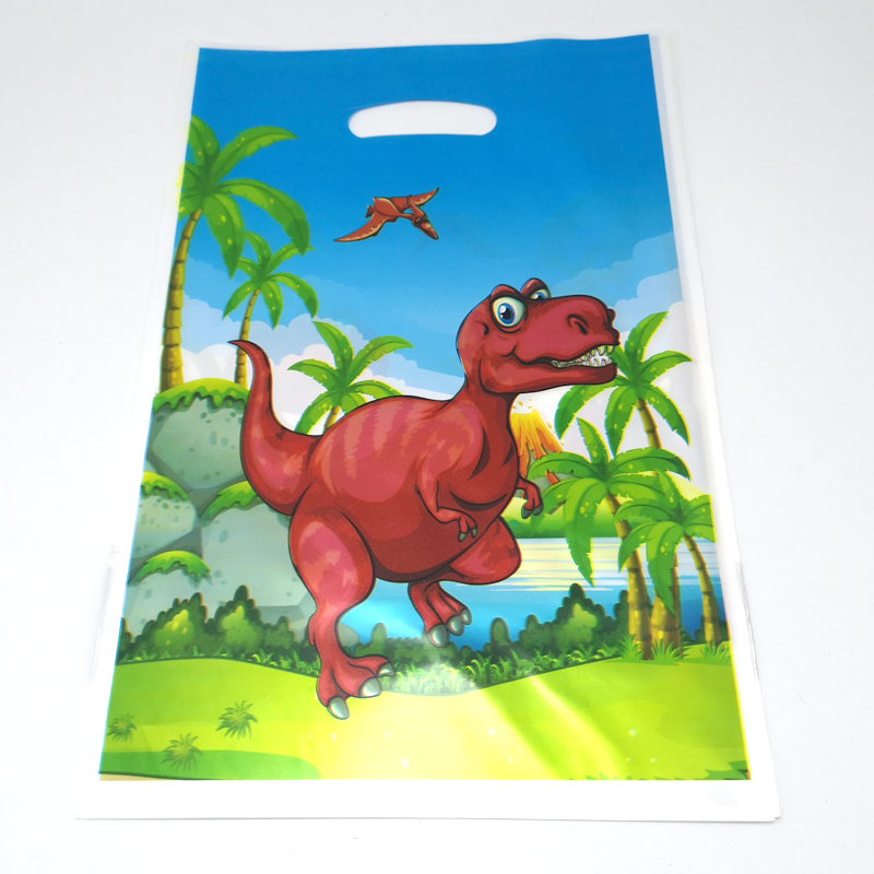 Birthday-Decoration Gifts Bags Favors Dinosaur-Theme Happy Baby Shower Party Plastic title=