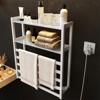 Comparar https://ae01.alicdn.com/kf/H18ea90d3c56648788ef2b0a03cbeea007/Toallero eléctrico V 102 montado en la pared con estante de almacenamiento calentador de toallas inteligente.jpg