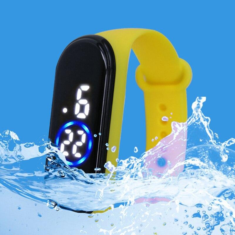 Мода спорт часы для детей детей водонепроницаемый светодиод цифровые часы сверхлегкий силикон ремешок подросток наручные часы унисекс ребенок мальчик