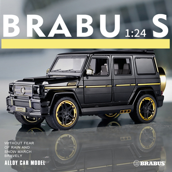 1:24 Mercedes-Benz Babs g65 modified off-road vehicle SUV simulation sound and light car model collection gift pull-back vehicle 1 32 bmw m8 modified racing car with sound and light children s alloy toy car model collection gift pull back vehicle