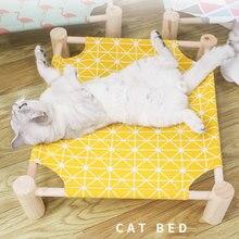 Hamaca de verano para gatos, cama Vintage para mascotas, cama extraíble para gatos, cama para mascotas, productos para gatos, cama para perro pequeño AA60MW