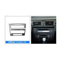 Voor Bmw e90 e92 e93 3 Serie Auto Interieur Trim Koolstofvezel Airconditioning CD Bedieningspaneel Decoratie Auto Accessoires