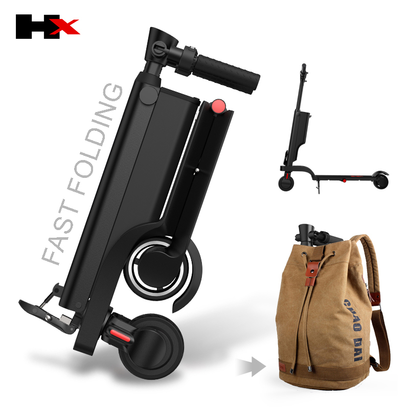 HX X6 X6 2 roues moto électrique Scooter pliant Scooter électrique à vendre
