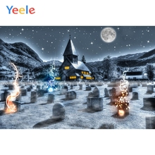 Yeele Photophone Halloween Backdrop Tombstone House Star Moon Night Vinyl Photocall Photography Background For Photo Studio
