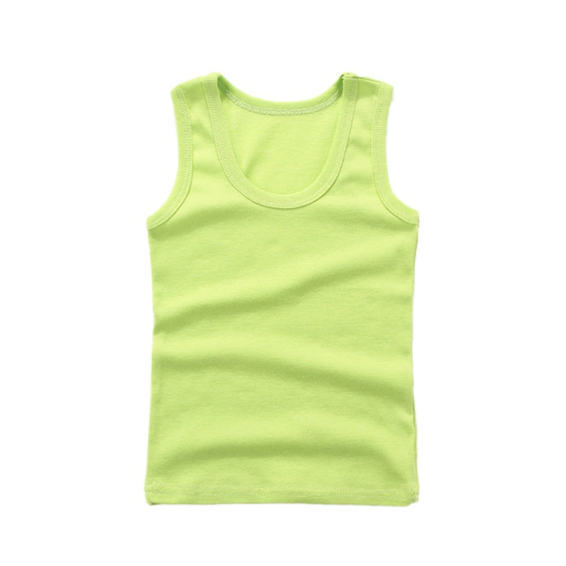 Weixinbuy Baby Girls Sleeveless Solid Color Summer Cotton Shirt Vest Tops Clothes