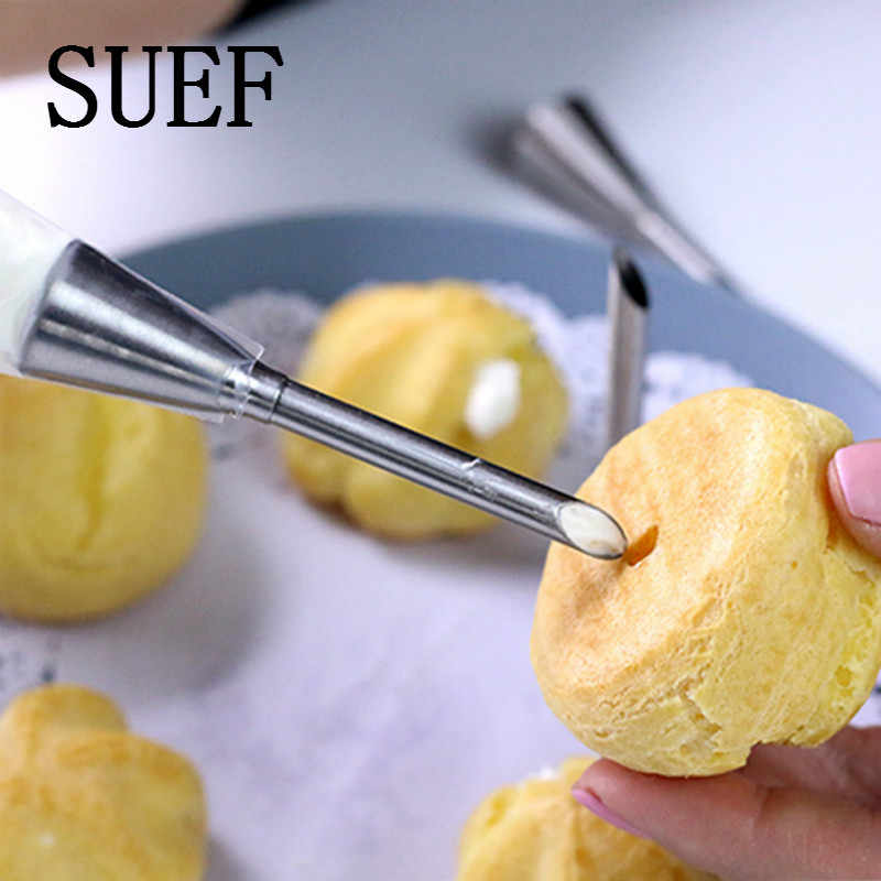 1PCS Piping Bag Nozzles Set Stainless Steel Cupcake Cake Decorating Tips For Puff Cream Pastry Piping Nozzles Decorating Tool @3