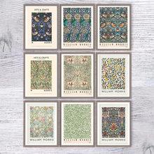 Affiche sur toile imprimée de William Morris, affiche d'exposition du musée Victoria et alpine de londres, nouvelle peinture d'art souterraine, décoration murale