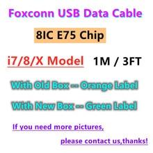 100 sztuk/partia 100% oryginalny 8ic E75 Chip kabel synchronizacji danych dla Foxconn i11 12 Pro XS XR 8 7 6s 6 plus 5S SE kabel ładowania USB 1M 3FT