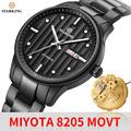 Starking relógio de pulso automático relógios mecânicos função data semana marca luxo japão miyota movt relógio de pulso relógio de cristal de safira