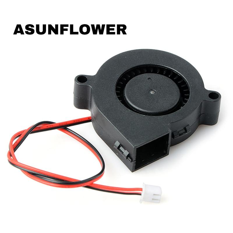 Brand NEW 3D Printer Parts Turbine Blower Small Fan 5015 Industrial Cooling Fan DC 12V/24V