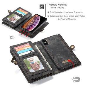 Image 4 - Luxus Magnetische Abnehmbare Fall Für iPhone 12 Mini 11 Pro XS Max XR X 7 8 6 s Plus SE 2020 leder Brieftasche Karte Telefon Taschen Abdeckung