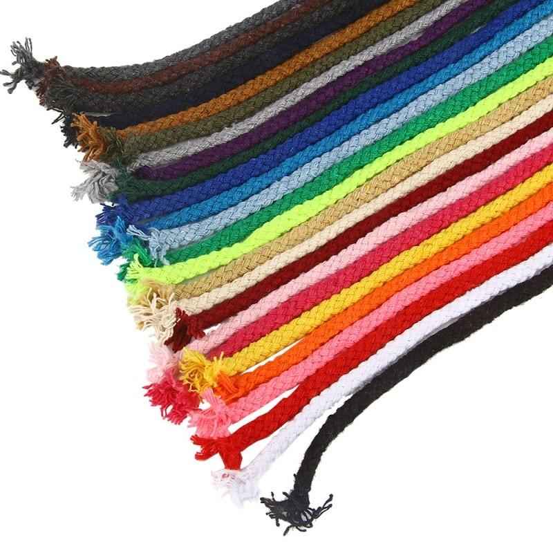 10 ярдов, 5 мм, хлопковый шнур, декоративный витой шнур для рукоделия, украшение ручной работы, шнурок «сделай сам», цветные нитки, шнур