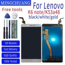 5.5 cal dla Lenovo telefon komórkowy K6 uwaga K53a48 wyświetlacz LCD ekran dotykowy Digitizer zgromadzenie z ramą części zamienne