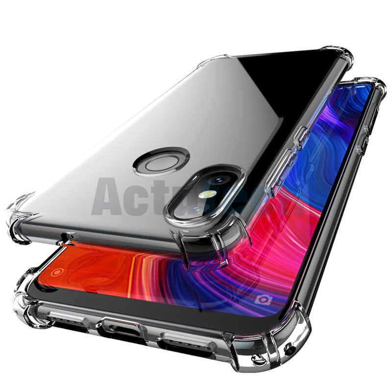 Funda transparente suave TPU para Xiaomi mi 8 lite Max3 mi 6X 5X A2 funda de silicona para Xiaomi mi teléfono móvil F1 rojo mi note6 5 6A