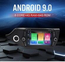 2 Din Android 8.0 ekran dotykowy samochodowy odtwarzacz multimedialny dla Kia Ceed 2013 2014 2015 Audio Radio Stereo wideo WiFI Bluetooth DVD GPS