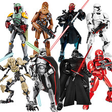 Blocchi di costruzione Star Film Wars Figure Boba Darth Grievous Ren Chew bacca Tempesta Clone Trooper K-2SO Rey Blocco di Mattoni Giocattolo regalo(China)
