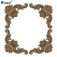 RUNBAZEF European Wood Decoration Carved Furniture Applique Decorative Background Patch Vintage Home Decor Ornaments Pendulum