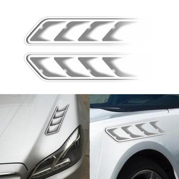 1 Pair Durable Auto Car Air Flow Intake Car Stickers Decorative Waterproof Hood Fender Door Decals Car Styling image