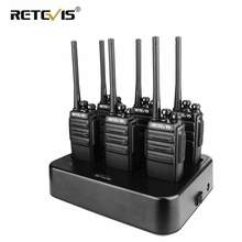 6pcs Retevis RT24/H777S Walkie Talkie + Six-Way Charger PMR Radio UHF VOX Handheld Two Way Radio Transceiver Radio Comunication(China)