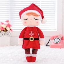 Metoo brinquedos de pelúcia angela bonecas de natal com caixa sonhando menina coelho de pelúcia brinquedos de presente recheado para crianças