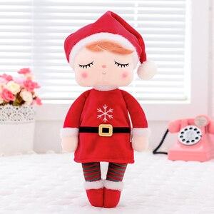 Image 1 - Metoo Плюшевые игрушки Анжела Рождественские куклы с коробкой Мечтая девочка плюшевый кролик мягкие Подарочные игрушки для детей