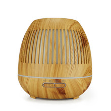 Essential Oil Diffuser Ultrasonic Air Aroma Humidifier 7 Color Changing LED Light 400ml Aromatherapy Diffuser With Wood Grain цена и фото