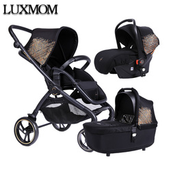 luxmom baby carriage 2020 new 2-in-1 3-in-1 Two-way adjustment  lightweight folding stroller