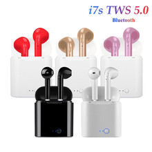 i7s Tws Wireless Earphones Bluetooth Earphones Earbuds Handsfree in ear Headset with Charging Box Mic For iPhone huawei Xiaomi