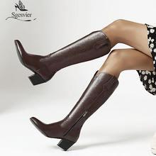 Sgesvier/модные сапоги на высоком толстом каблуке; Цвет белый