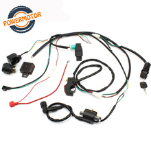 Motorcycle CDI Ignition Coil Wiring Harness Loom Solenoid Ignition Rectifier For 50/70/90/110/125CC Quad Dirt Bike ATV Go Kart excavator solenoid coil 6d102 for 20y 60 32120