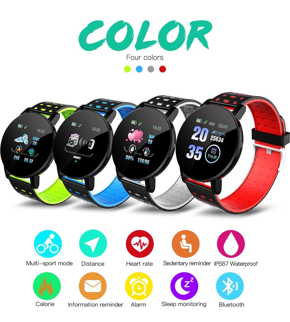H18ecf961403848db91a1de9093f4e5fb9 Fitness Bracelet Blood Pressure Measurement Smart Band Waterproof Fitness Tracker Watch Women Men Heart Rate Monitor Smartband