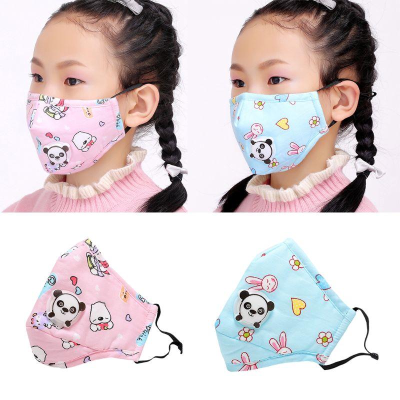 Winter Winter Children Kids Anti-Dust Cotton PM2.5 Face Mouth Mask Colorful Cartoon Bear Rabbit Printing Adjustable Respirator