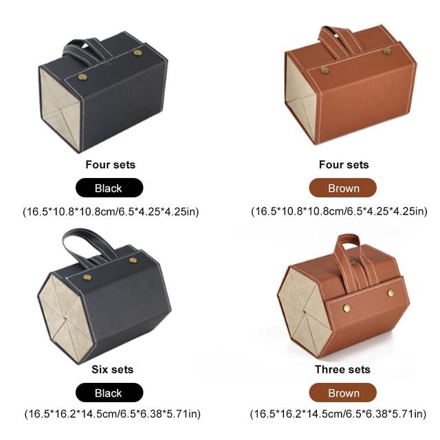Leather Multiple Glasses Storage Case 4