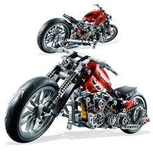 Decool 3354 Fit Technic Series 8051 Motorbike Motorcycle Harley Set DIY building blocks Educational toys for Kids Xmas Gifts bevle store lepin 3354 378pcs technic series halley motorcycle model building set blocks bricks children for toys decool gift