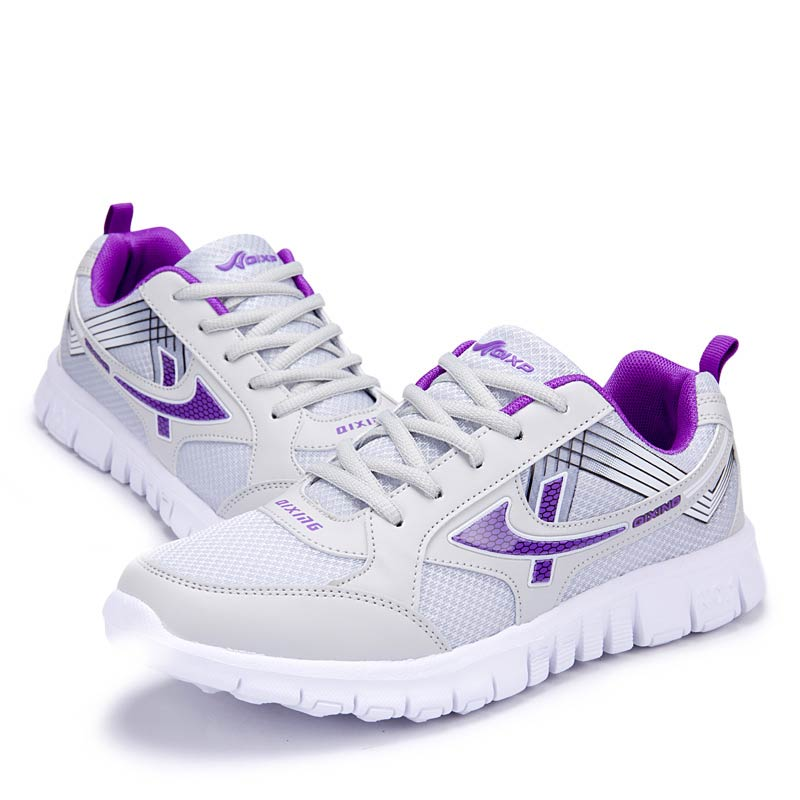 Sneakers Women Running Shoes 2019 New Fashion Mesh Breathable Ladies Shoes Lace-up Solid Women Sneakers Sport Casual Shoes Woman