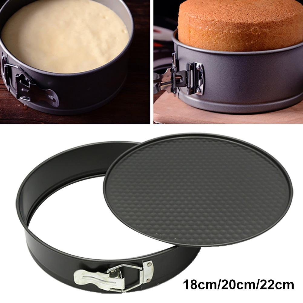 1Pc Adjustable Mousse Round Cake Molds Stainless Steel Baking Moulds Kitchen Dessert Cake Decorating Tools Non Sticky Removable