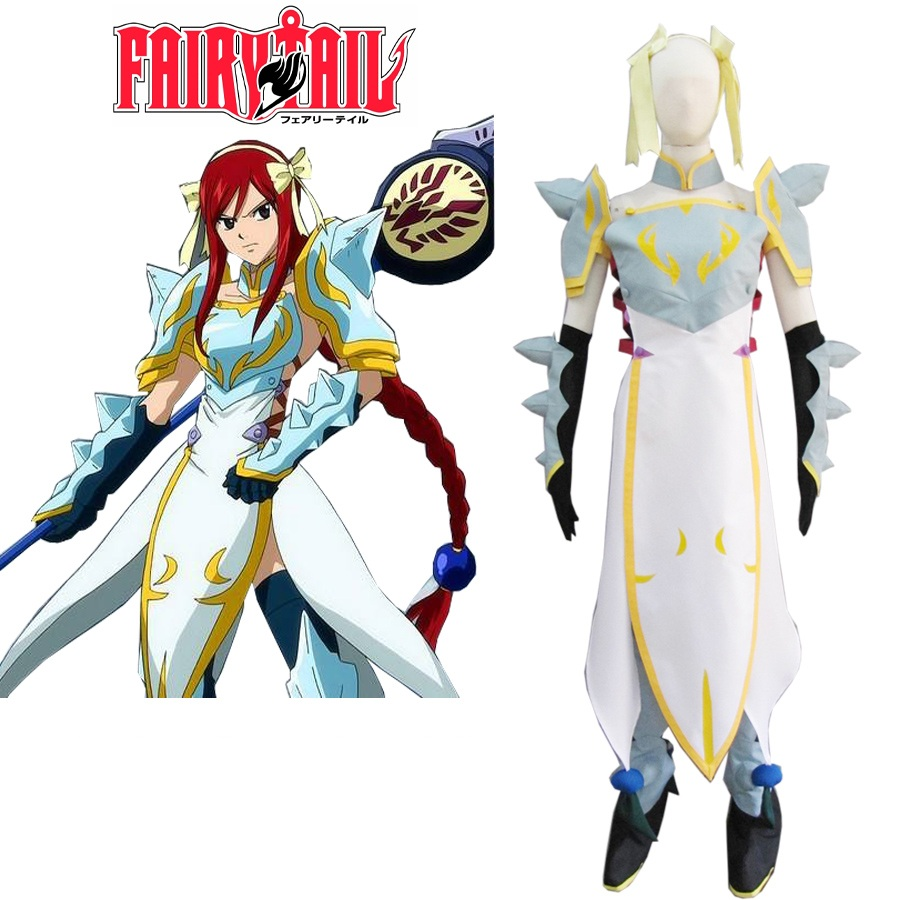 High-Q Anime Cos Fairy Tail Elza Cosplay Costume Fairy Tail Elza knight walker Cosplay Costumes Party Sets