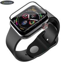 Закаленное стекло для Apple Watch 4 5 44 мм 40 мм защитный чехол Apple watch 5 4 3 2 1 42 мм 38 мм 3D изогнутая поверхность аксессуары