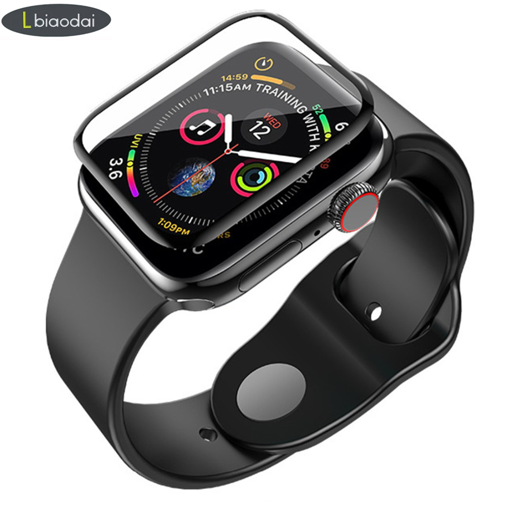 Tempered Glass For Apple Watch 4 5 44mm 40mm Screen Protector Case Apple Watch 5 4 3 2 1 42mm 38mm 3D Curved Surface Accessories