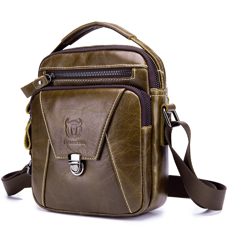 Модная сумка через плечо из натуральной кожи для мужчин, Маленькая мужская сумка на молнии с клапаном из коровьей кожи, мужская сумка с клапаном и карманом, одноцветная сумка на плечо| |   | АлиЭкспресс