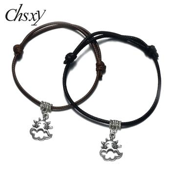 CHSXY Fashion Weather Hollow Cloudy Charm Bracelet Simple Hand Braided Lucky Rope String Bracelet Friendship Gift Party Jewelry image