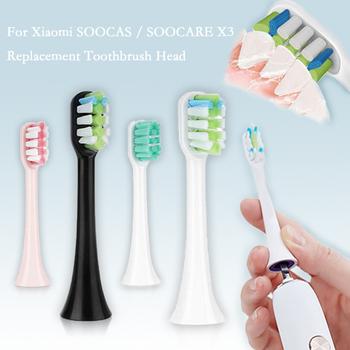 Wymienne głowice szczoteczki do zębów xiaomi do szczoteczki elektrycznej Soocas X3 szczoteczki do zębów Sonic elektryczne końcówki do szczoteczki 5 tanie i dobre opinie CN (pochodzenie) for soocas X3 electric toothbrush Z tworzywa sztucznego Szczoteczki do zębów głowy Dorosłych 1 pack