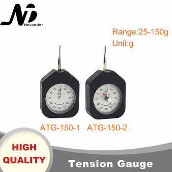 цена на Free Shipping 150g Dial Tension Gauge Analog Tensiometer Tension Tester Single Needle Double Needles