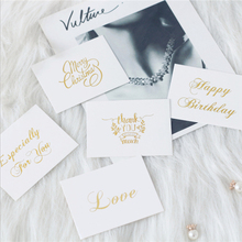 40PC Wedding Decoration Gold Christmas Thank You Cards for Small Gifts Invitation Place Blank Postcards Love